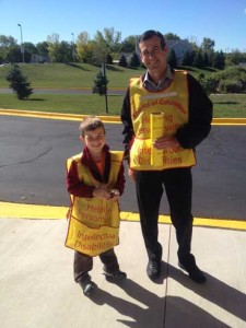 Adam & Son - Tootsie Roll Drive at Church