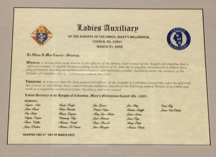 Ladies Auxiliary Charter