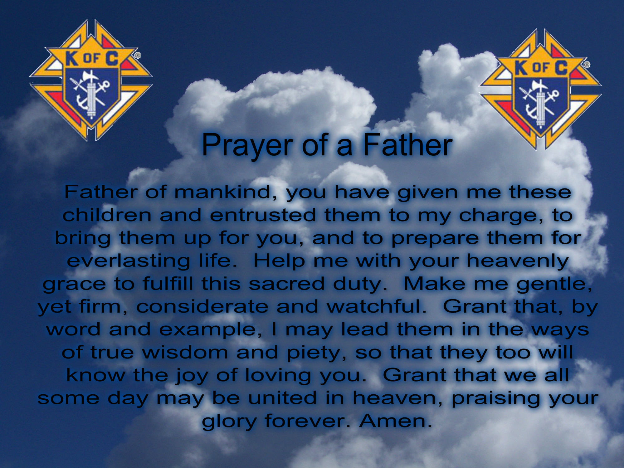 Prayer of a Father