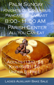 Cancelled - Palm Sunday Breakfast with Knights & Ladies